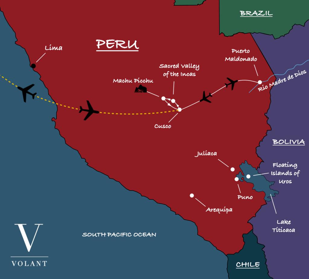Salkantay Trek & Amazon Basin, Peru Map | Volant Travel
