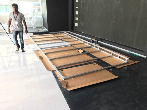 led wall install 2