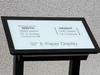 e-paper display 32inch