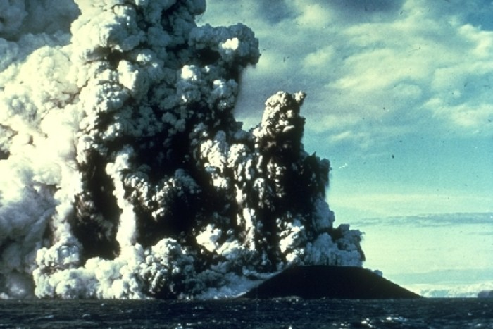 The Birth of Surtsey and origin of the term Surtseyan eruption. (Uncredited image from the Web)
