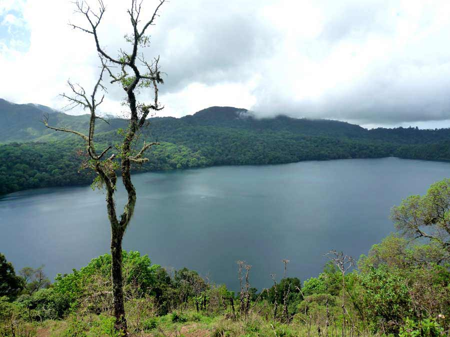 Mount Oku with the caldera lake.