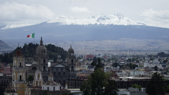 The 4,680 m a.s.l. high Nevado de Toluca volcano as seen from the city of Toluca, 24 km away. (Wikimedia Commons)