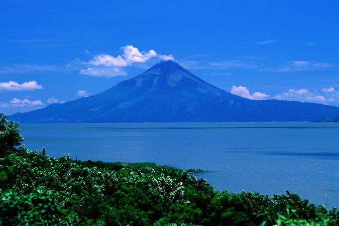 The 1,297m high Momotombo stratovolcano, here seen from across Lake Managua or Lago Xolotlán, is less than 5,000 years old. (Uncredited image)