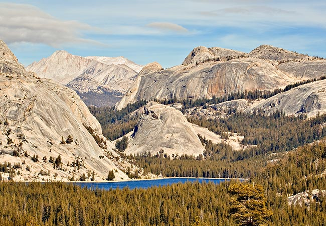 Yosemite National Park, California. A splendid example of plutonic mineralization of granite revealed by erosion.