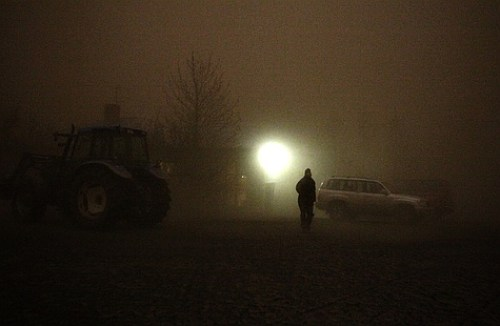 Photographer: Róbert Reynisson – Concerned farmer looking for his sheep, Grimsvötn eruption 2011