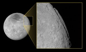 Pluto's moon Charon, as seen by New Horizons. Click to get full resolution - be aware, it is huge.