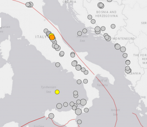 M6 earthquakes in Italy since 1900