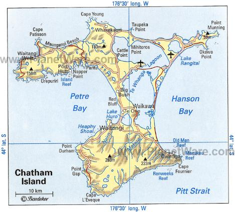 chatham-island-map