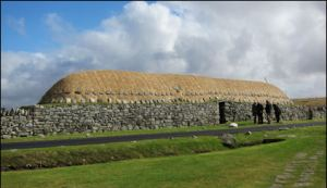 A traditional croft house on the Isle of Lewis: Arnol black house