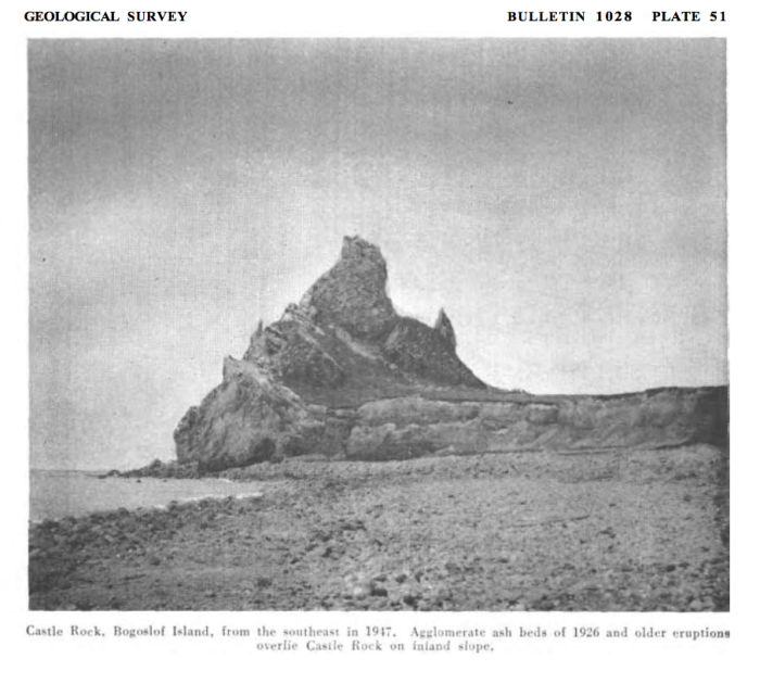Castle Rock in 1947 (AVO).