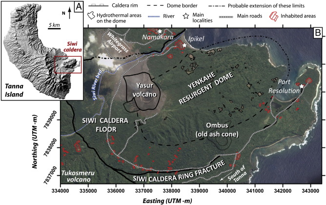 Siwi caldera and its resurging block. Source: Brothelande 2016, Journal of Volcanology and Geothermal Research