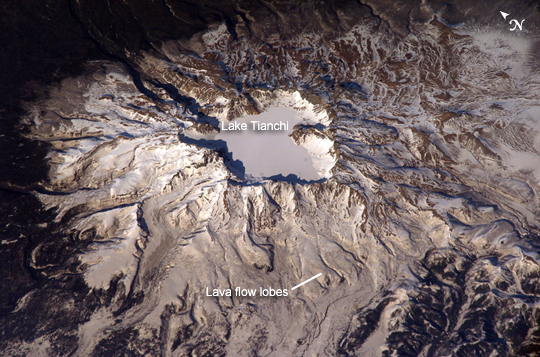 ount Baekdu or Changbaishan on the Chinese - North Korean border, source of the 969 AD VEI 7 eruption (Wiki)