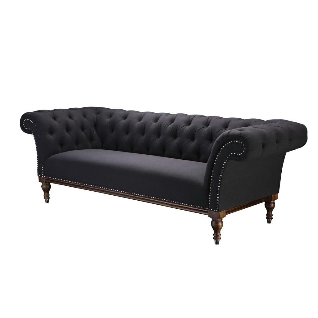 Sohva, tummanharmaa