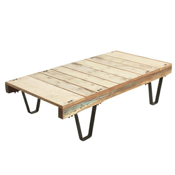 Scrapwood pallet cart sohvapöytä