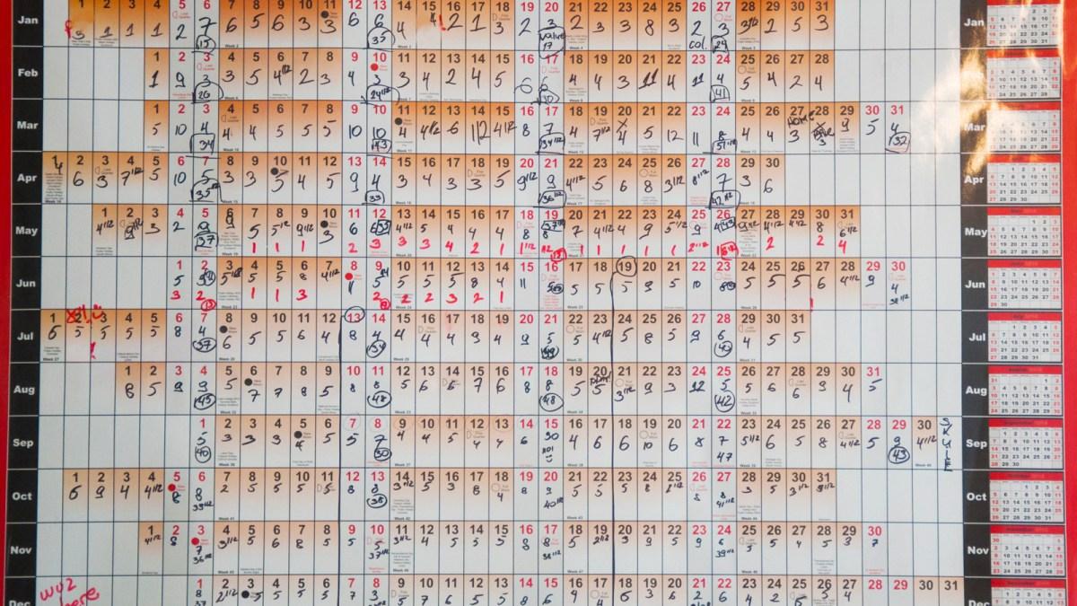 Mastery Calendar