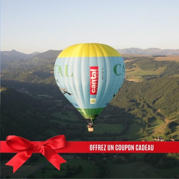Bon cadeau vol en montgolfière Cantal