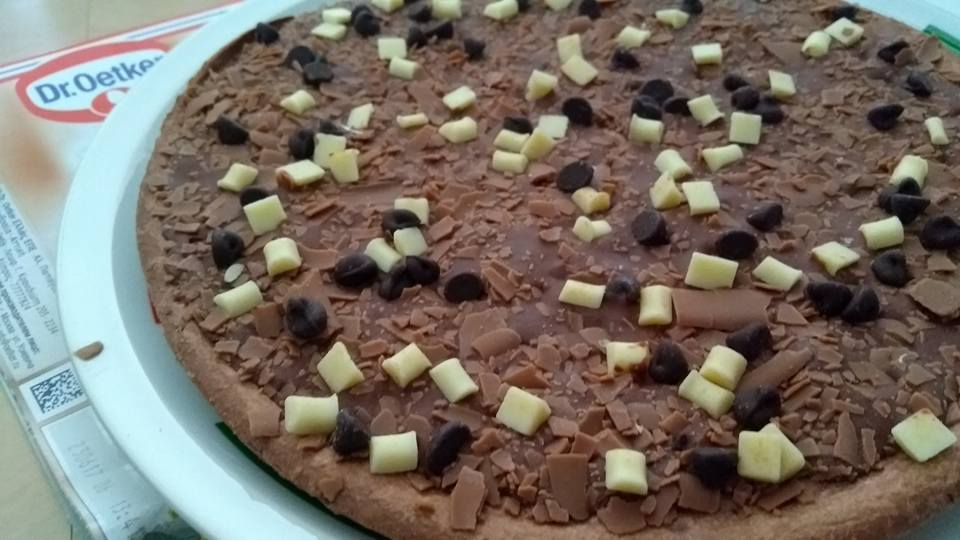 dr.oetker ristorante chocolade pizza getest. hoe smaakt deze?