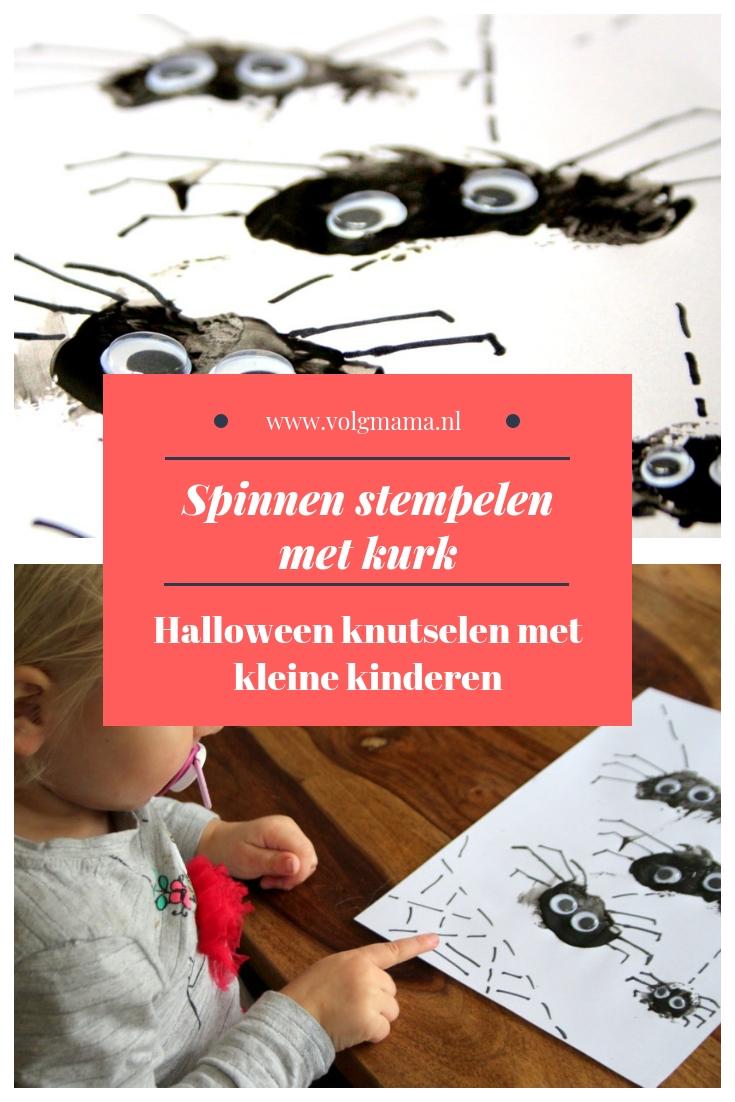 halloween-knutselen-met-kleine-kinderen-spin-stempelen-herfst