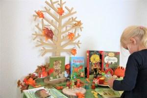 Herfsttafel seizoenstafel herfst thema voor peuters en kleuters