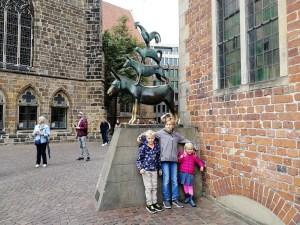 Bremen met kinderen - Beeld Bremer Stadsmuzikanten