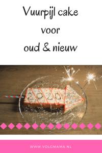 vuurwerk vuurpijl cake voor oud en nieuw bakken