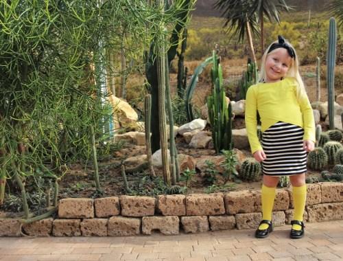 Bnosy zomer 2020 jurkje geel zwart wit