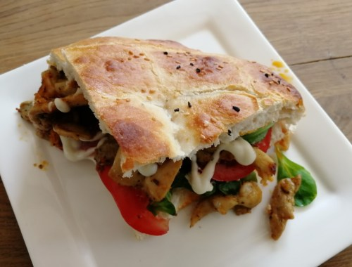 Turks brood met kip - Recept