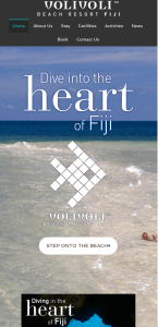New website for Volivoli Fiji
