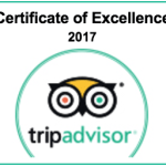 We earned 2017 TripAdvisor Certificate of Excellence