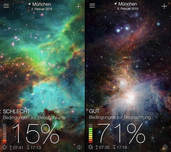 Sky-Live App Mondfotografie