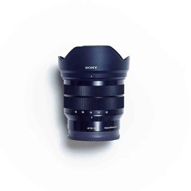 Sony E-Mount SEL1018 Objektiv (Topansicht)