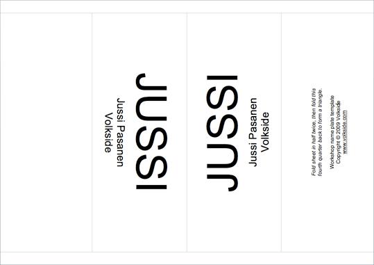 Workshop Tip Name Plate Template Volkside