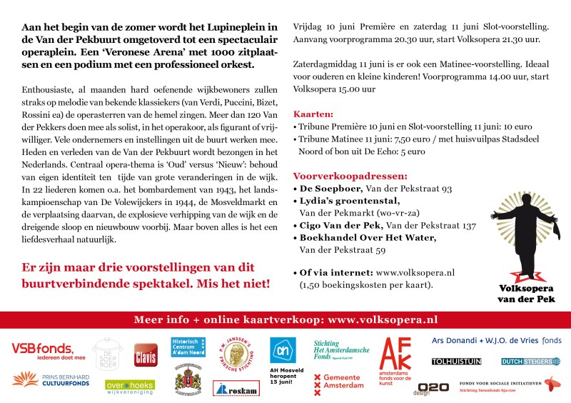 10 en 11 juni. 2016 Volksopera Van der Pek