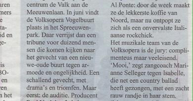 Chris Keulemans schrijft over de audities voor de nieuwste Volksopera