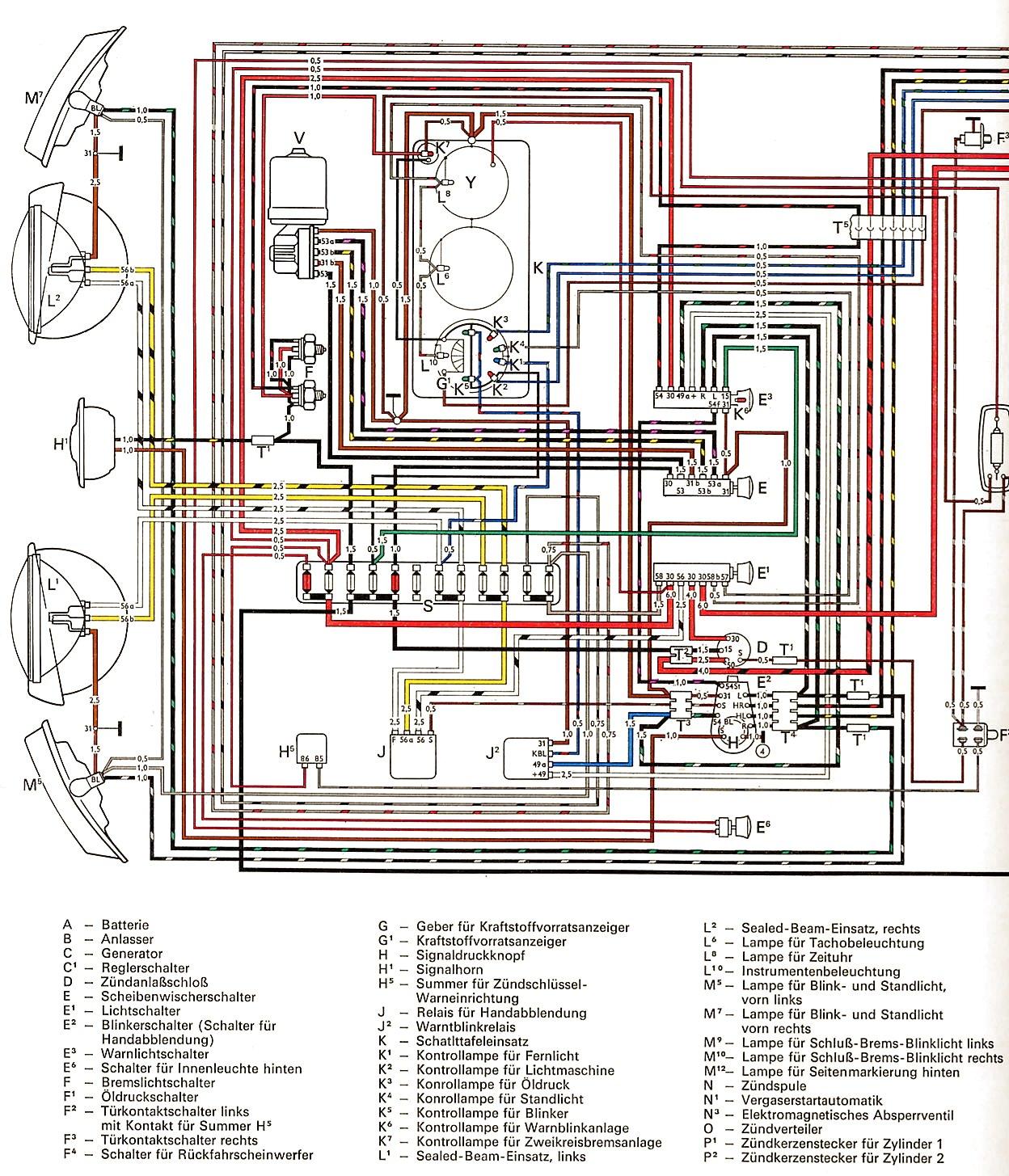1964 Vw Bus Wiring Diagram Online Schematics 1972 Beetle Engine Ignition 66