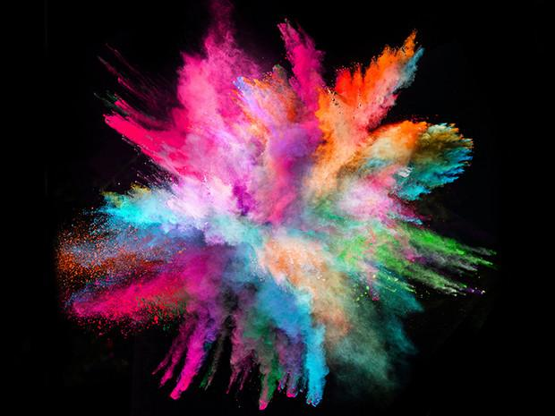 "Colored Powder ""Explosion"""