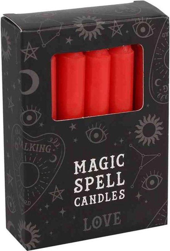 Magic Spell kaarsen rood