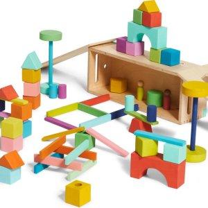 Lovevery Block Set – Duurzame massief houten blokken met 20+ activiteiten, 70 blokken en 18 vormen
