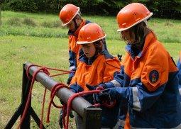 Gemeindeleistungswettbewerbe der Feuerwehr Knotenbalken