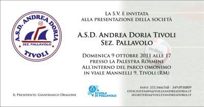 Invito Presentazione Andrea Doria 2011