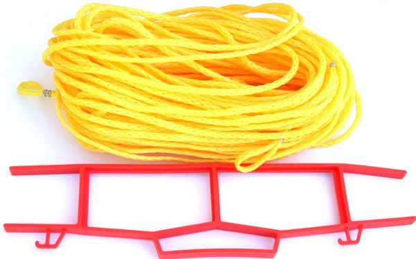 Rope Grass or Sand Court Boundary Lines Yellow