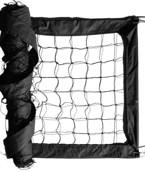 Black Advanced Outdoor Volleyball Net