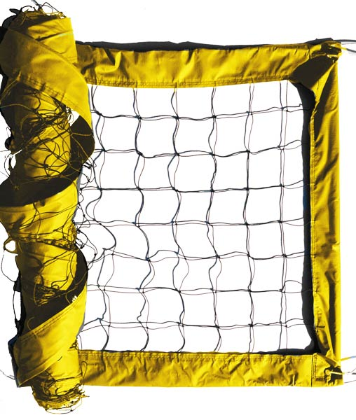 Yellow Advanced Outdoor Volleyball Net