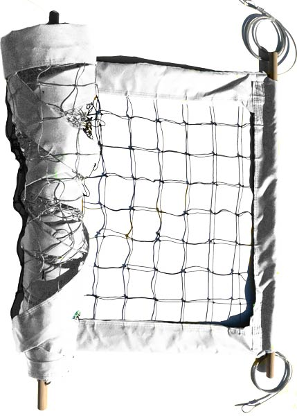 White Professional Outdoor Volleyball Net