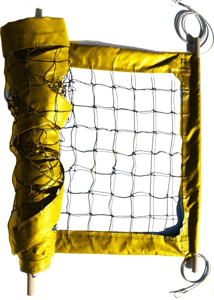 Yellow Professional Outdoor Volleyball Net