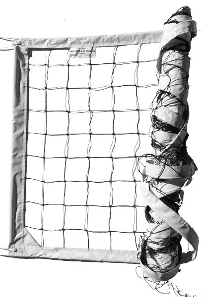 White Power Outdoor Volleyball Net