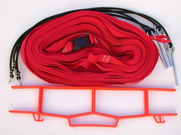 Beach Volleyball 1 Inch Webbing Court Boundary Line Red