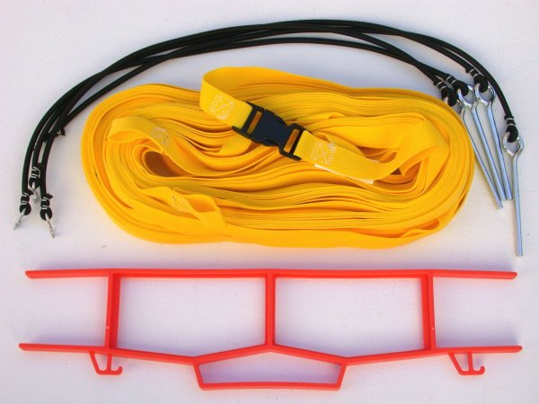 Beach Volleyball 1 Inch Webbing Court Boundary Line Yellow