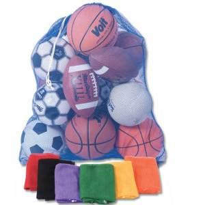 Large Mesh Ball Carry Bag - 12 Volleyballs SNBCNET