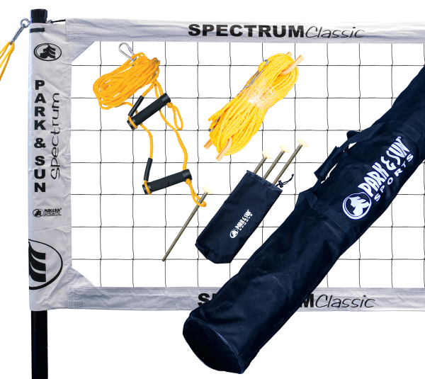 TS-CL-WH Park & Sun Spectrum Classic Portable Volleyball Set